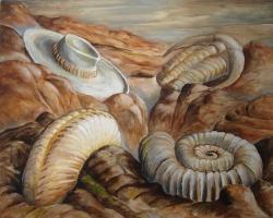 Landschap met fossielen