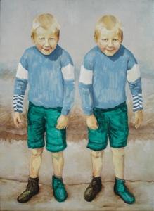 Slootje springen met fictieve tweelingbroer