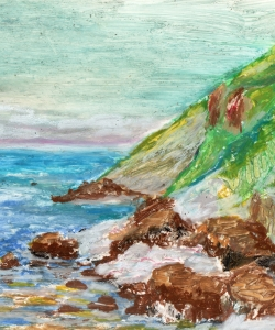 Eyarfjord, krijt, 20 x 30 cm